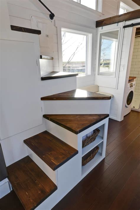 tiny living homes tiny house on wheels w big kitchen and double sink vanity