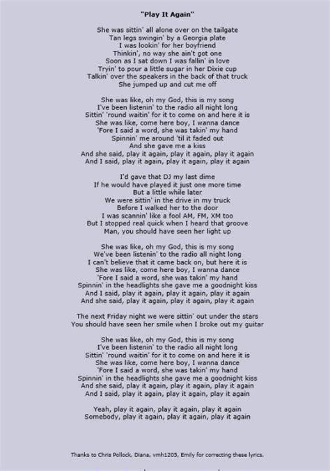 ed sheeran az lyrics quot play it again quot luke bryan thanks to azlyrics com