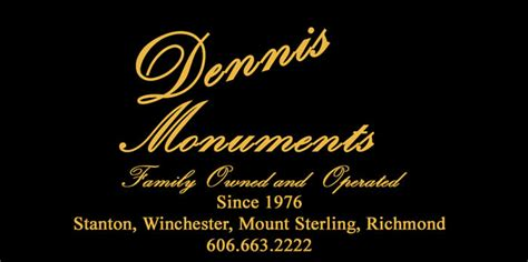 dennis cemetery monuments of ky memorials for the