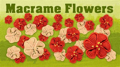 how to make a macram 233 flower fiore fleur flor blume цветок