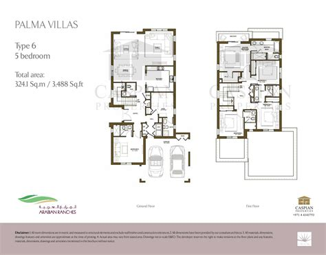 arabic house designs and floor plans arabian ranches palma floor plans
