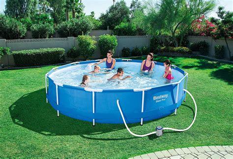 piscina esterna da giardino bestway piscina fuori terra con telaio portante da