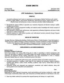 Paramedic Resume Template by 10 Emt Resume Cover Letter Writing Resume Sle