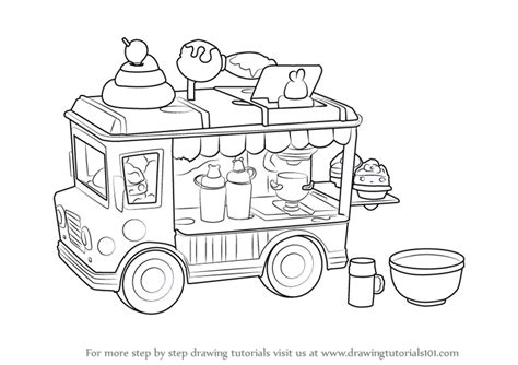 Learn How To Draw Lipgloss Truck From Num Noms Num Noms Coloring Pages Num Noms
