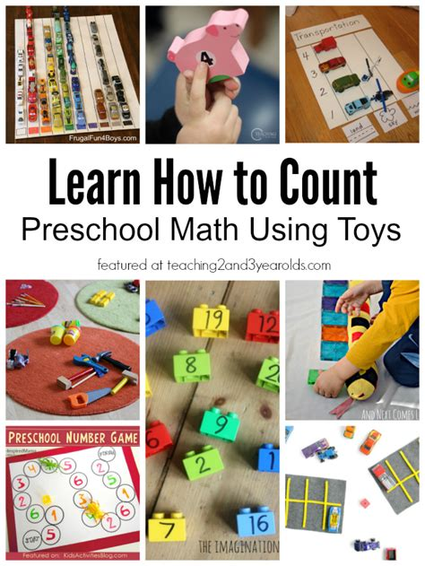 how to a 3 year learn how to count with toys