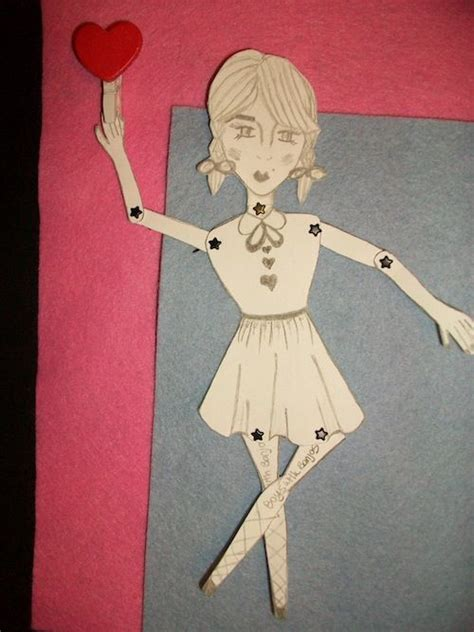Make Your Own Paper Doll - diy make your own paper dolls crafts