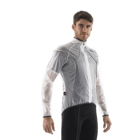clear cycling jacket ups tracked santini 365 transparent cycling