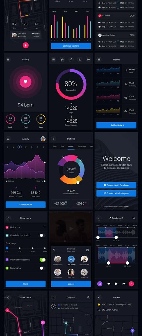 download pattern ui pin ui kit elements for your app 아이폰 모바일 디자인 및 응용 프로그램