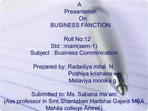 Smt Shantaben Haribhai Gajera Mba Mahila College by Business Function
