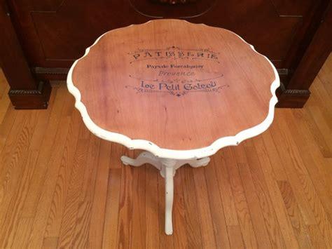 vintage pie crust table wood top distressed in a custom