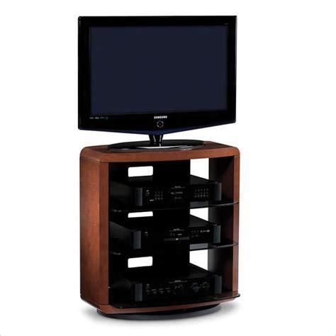 valera single wide 4 shelf swivel tv stand in
