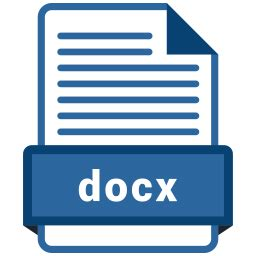 docx file icon  colored outline style   svg