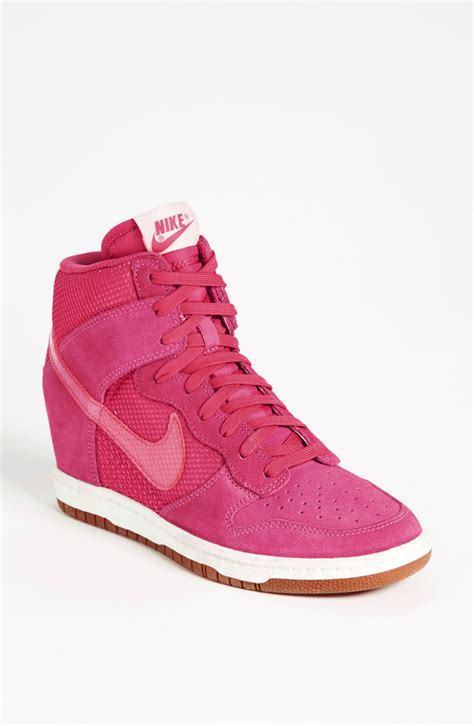 pink sneakers nike dunk sky hi wedge sneaker in pink lyst