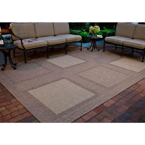 8 foot indoor outdoor rugs safavieh courtyard brown 8 ft x 11 ft indoor outdoor area rug cy1928 3009 8 the home
