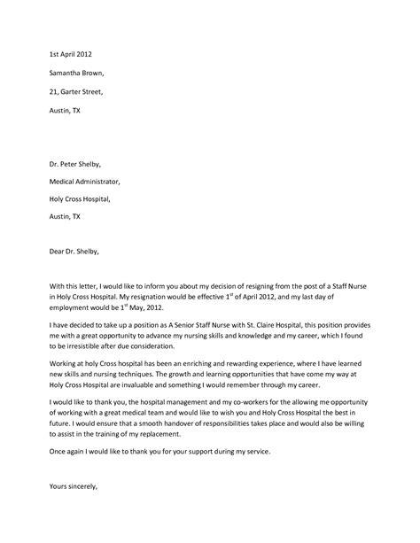 resignation letter elegant appropriate letter of resignation