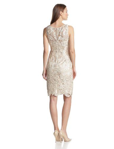 Dress Ivory Abu papell s illusion neckline lace dress buy