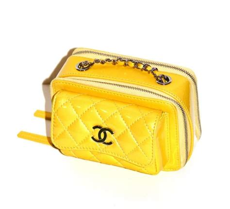 Chanel Clutch With Box 579 Ss Material Leather chanel quilted patent leather mini pocket box bag at 1stdibs