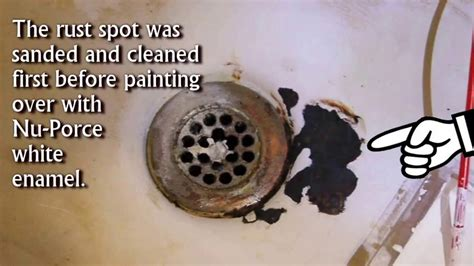 How To Fix Chipped Bathtub Enamel by Fix Rust Spot Chipped Bathtub Sink With Simple Store Bought Product