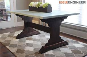 Free Dining Tables Monastery Dining Table Free Diy Plans Rogue Engineer