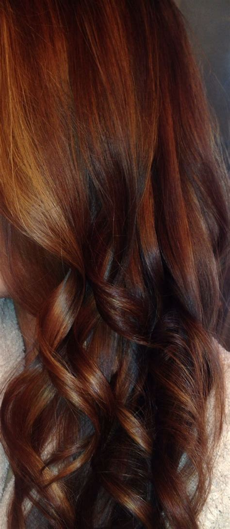 copper brown toner hair medium a close up a rich combo of red brown caramel