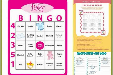 printable baby shower games in spanish juegos para baby shower printable baby shower games in