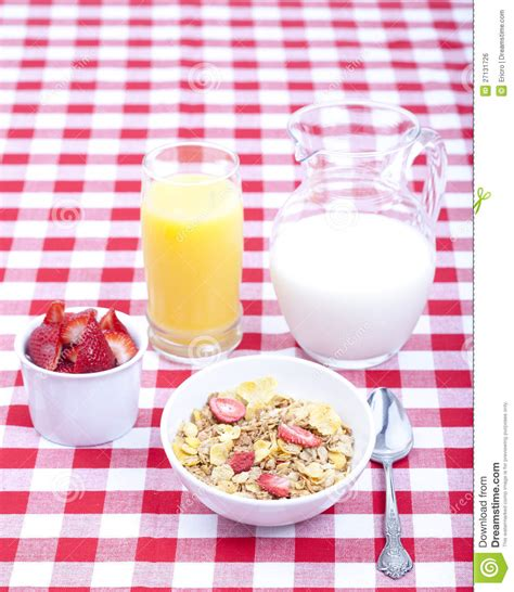 Ejuice Matjan Breakfast Berry Cereal Milk breakfast of cereal fruit orange juice and milk royalty free stock image image 27131726