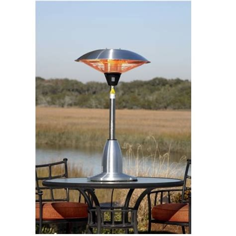 Firesense Table Top Patio Heater Sense 60403 Stainless Steel Table Top Halogen