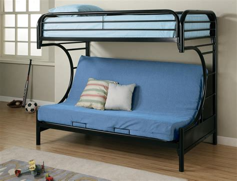 fordham black futon bunk bed from coaster