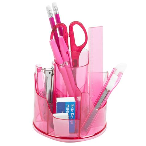 office desk stationery set 13pc office stationery organiser set rotating desk tidy