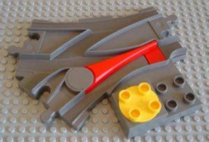 Lego 2736 Duplo Switching Track bricker конструктор lego 2736 стрелочные переводы