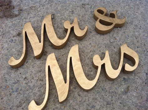 gold mr and mrs table sign gold mr mrs letters wedding table decoration