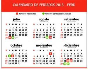 Calendario 2018 Feriados Peru Almanaque 2013 Feriados Peru Imagui