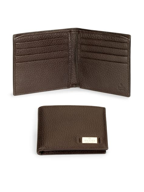 3in1 Gucci Natasya 2526 2 lyst gucci metal tag leather coin wallet in brown for
