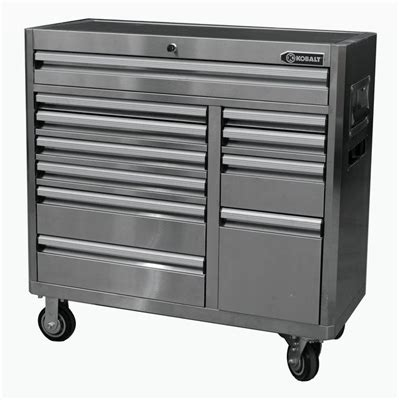 kobalt 8 drawer tool box kobalt 11 drawer stainless steel tool chest base lowe s