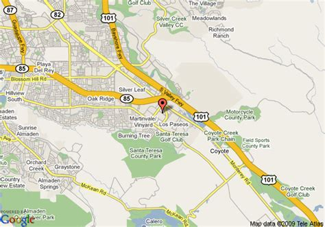 san jose south map map of extended stay deluxe san jose south edenvale san jose