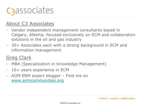 Of Alberta Mba Specialization In Leisure And Sport Management by Aiim Info360 Conference What Ecm Success Looks Like