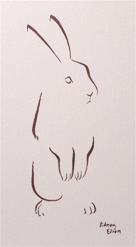 minimalist rabbit tattoo marker archives by sidney eileen