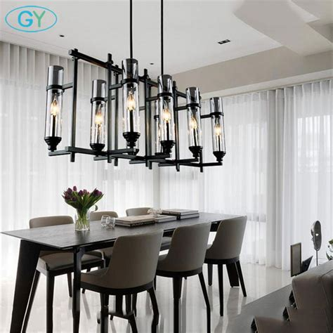 Modern Dining Chandeliers by 110v 220v American Industrial Vintage Glass Candle