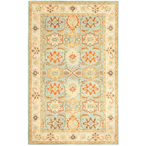light teal area rug safavieh cedar brook ivory light teal 4 ft x 6 ft area