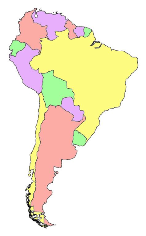 south america map colored file southamerica political blank 01 png wikimedia commons