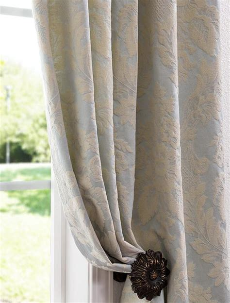 damask curtain mayfair light blue cotton damask curtains