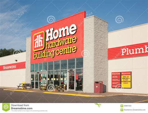 home hardware retail outlet editorial stock photo image