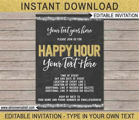 14 Happy Hour Invitation Designs Templates Psd Ai Indesign Free Premium Templates Free Happy Hour Invitation Template