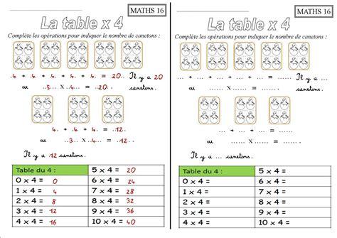 les tables de multiplication de 1 a 10 exercice de maths ce1 a imprimer gratuit tourisme miramont