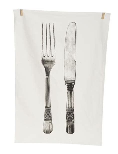 Kitchen Forks And Knives Fork And Knife Tea Towel Tea Towel