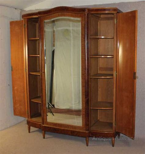 Door Armoire by Antiques Atlas Walnut 3 Door Armoire With Burr Walnut