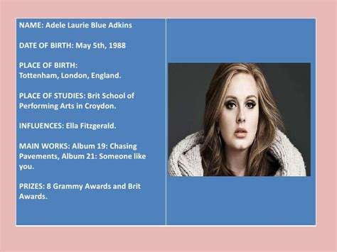 Biography Adele En Ingles | biography adele