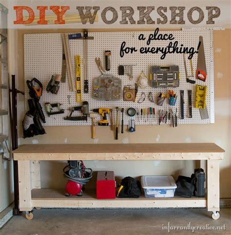 Diy Garage Workshop Ideas by Garage Organization Diy Workshop Infarrantly Creative