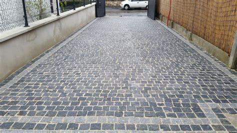 09 04 2016 pavage de notre all 233 e en pav 233 s granit gris fonc gagny seine denis