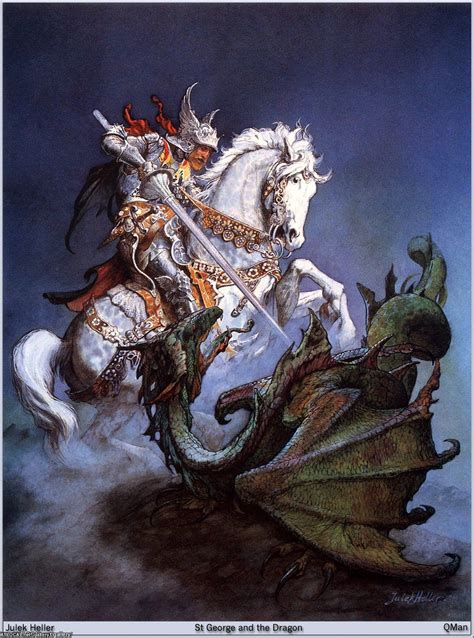 saint george and the dragon meanwhile back in the dungeon julek heller st george the dragon